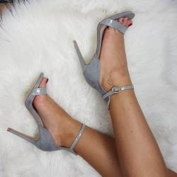 Sandále so zlatým zámkom Misha sivé