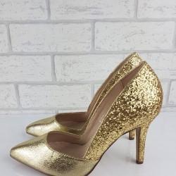 Zlaté glitrové lodičky Kylie