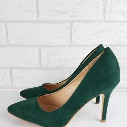 Zelené semišové lodičky Eva
