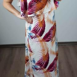 Maxi šaty Tropic oranžové