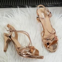 spoločenské sandále Lissy rose gold