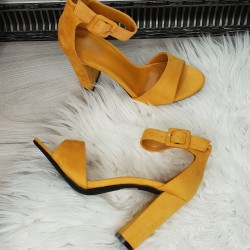 Horčicové sandále Lexy