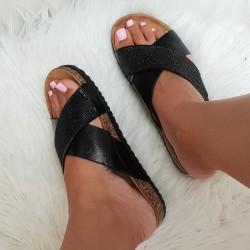 Čierne šľapky Arielle