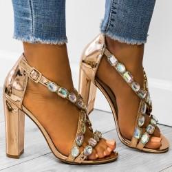 Luxusné sandálky Calista rose gold