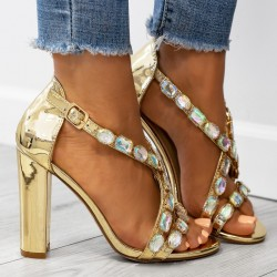 Luxusné sandálky Calista zlaté