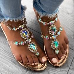 Rose gold sandále s kamienkami Maura
