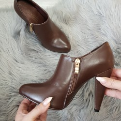 Kožené členkové topánky Ria hnedé