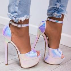 Strieborné sandále Alexia