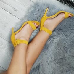 Horčicovo žlté sandále Timea