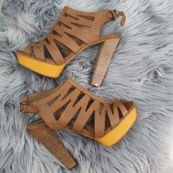 Kožené sandále Terra hnedé