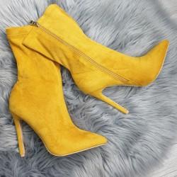 Žlté semišové kotničky Olivia