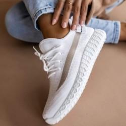 Ponožkové botasky Boston biele