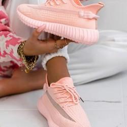 Ponožkové botasky Boston ružové