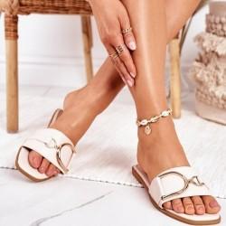 Béžové šľapky Diora