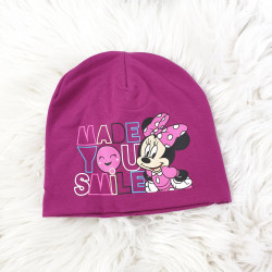 Detská čiapka Minnie cyklaménová