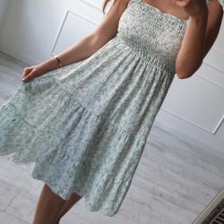 Kvetinové šaty Melrose zelené