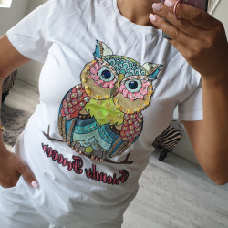 Štýlové tričko Owl