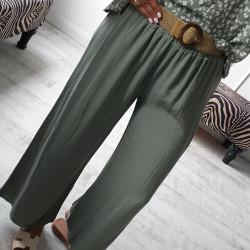 Letné nohavice Deli olivové