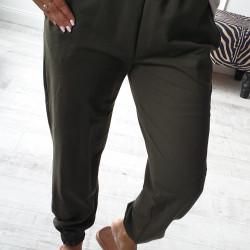 Športové nohavice s vysokým pásom Emmel olivové