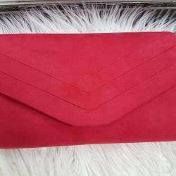 Červená semišová kabelka Siona