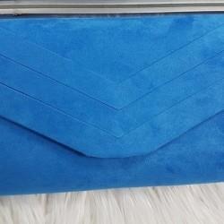 Modrá semišová kabelka Siona