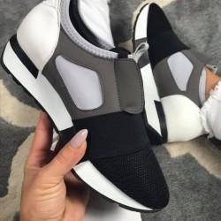 štýlové botasky Bally sivé