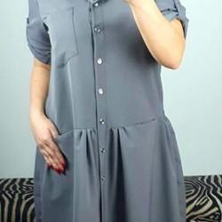 Sivé šaty Preston