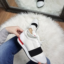 Štýlové botasky Christy biele
