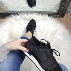 Štýlové botasky Christy čierne