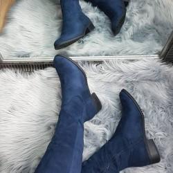 Zateplené čižmy Darcy modré
