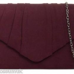 Semišová listová kabelka Milla bordová