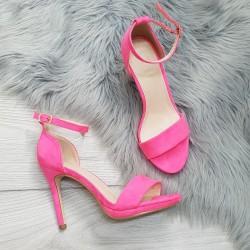 Neónovo ružové sandále Janice