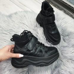 Botasky na platforme Natty čierne