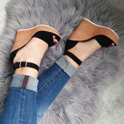 Platformové sandále Hailey čierne