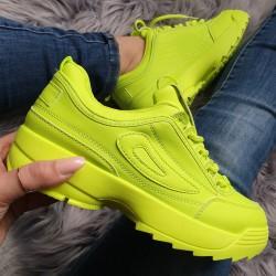 Štýlové botasky Filla neónové