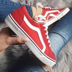 Červené tenisky Vansa