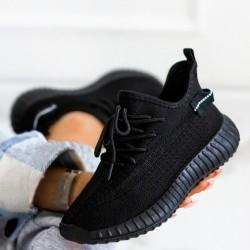 Ponožkové botasky Boston čierne