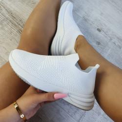 Ponožkové tenisky Dallas biele