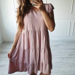 Šaty s bodkami Lilli ružové