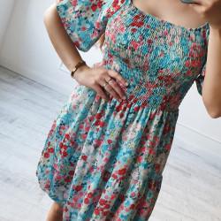 Kvetinové šaty Melinda zelené