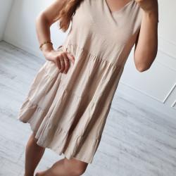 Šaty s bodkami Lilli béžové