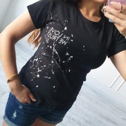 Tričko IN LOVE čierne
