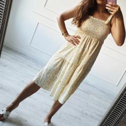 Kvetinové šaty Melrose žlté