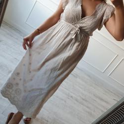 Béžové šaty Madeira