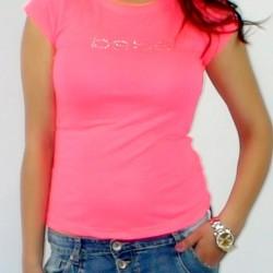 Tričko BEBE neónovo ružové 189061