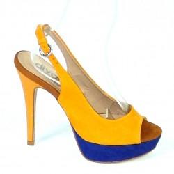 Kožené sandále Damasco horčicové