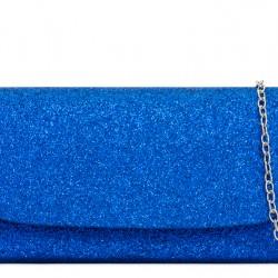 Glitrová kabelka Kara kráľovská modrá
