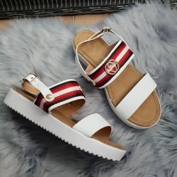 Biele sandále Gigi