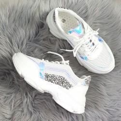 Štýlové botasky Deren biele