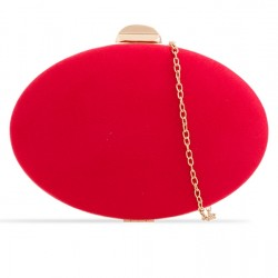 Semišová kabelka v pevnom obale Zelda červená